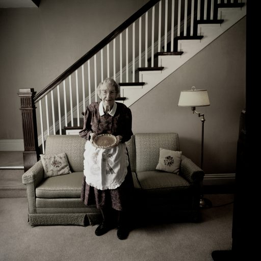 Senior who is 100 and lives alone bakes a pie every day so she doesn't forget how to do it, a device she uses to retain her memory.  She gives the pies to neighbors.  PHOTO BY MAGGIE STEBER
