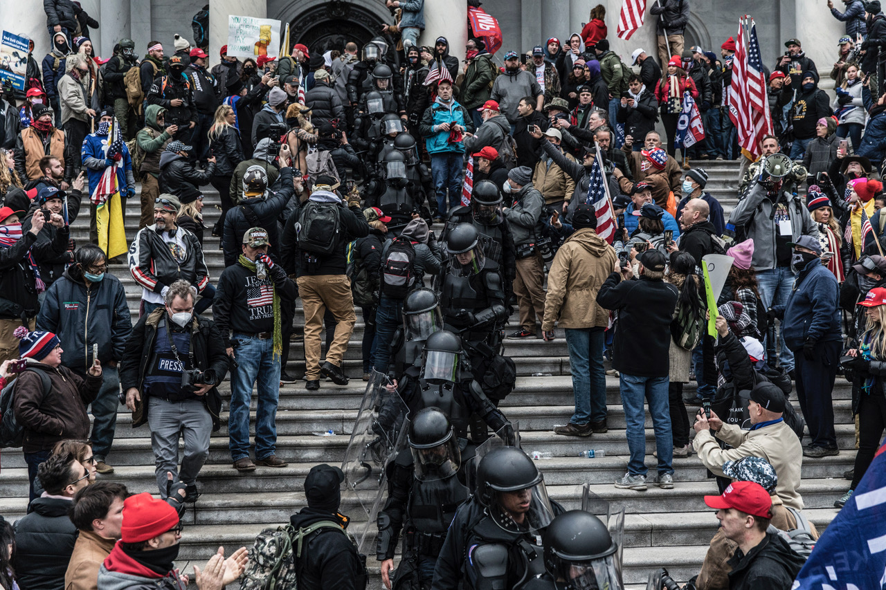 © Christopher Morris / VII. Scenes from the U.S. Capitol breach on January 6, 2021.