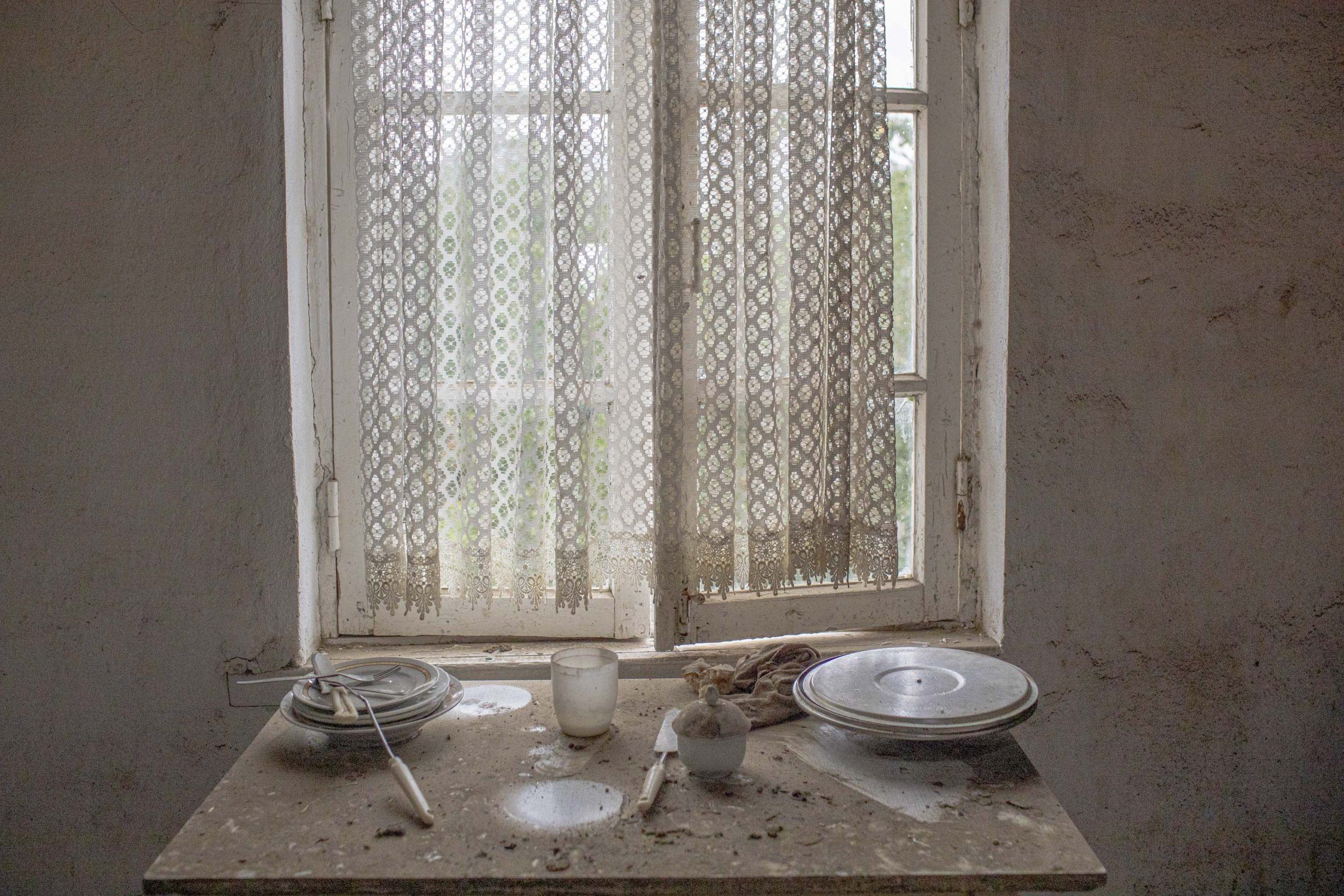 Kitchen in a house that was hit in Martuni, Nagorno-Karabakh, seen on October 1, 2020. The house was hit on September 27.