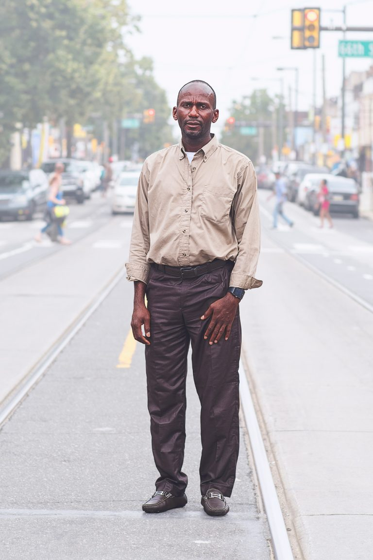 Photo by Ed Kashi / VII. Abu Bakar, originally from Sierra Leone, in Philadelphia, Pennsylvania on August 12, 2017. Abu was a former detainee at Elizabeth Detention Center, Bucks County Prison, Allentown Prison for 3 years and was part of a lawsuit against the Esmor Corporation, a private company that ran the immigrant detention facility at the time he was detained.
